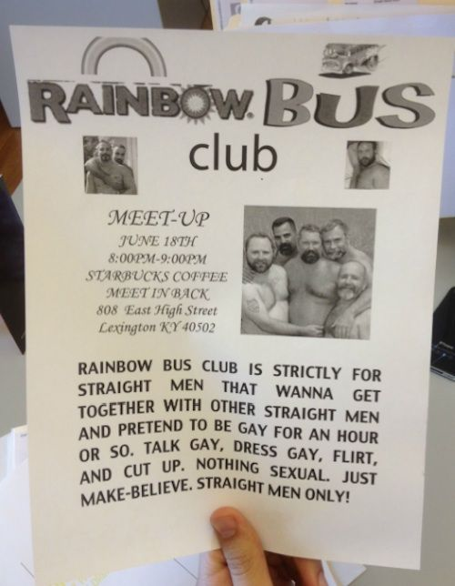 Flyer For The Gayest Group Of Straight Guys In History | Happy Place
