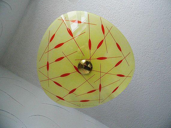 Vintage: 50er ceiling light shade