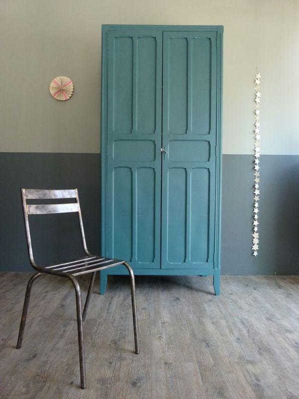 Armoire Bleu Pétrole