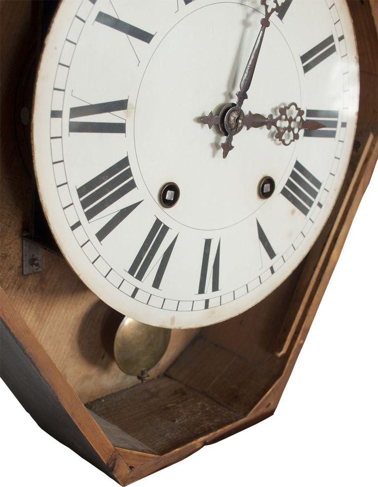 Reloj de pared estilo Isabelino, fin XIX principios del s. XX