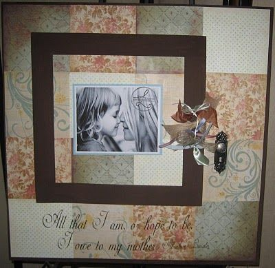 Scrapbook Frame for Mother's Day!To make your own:    {Supplies needed}  24x24 MDF Board  (4) 12x12 scrapbook pages  8x8 wooden pic. frame  acrylic paint  ModPodge  hot glue  clear corner stickers  variety of ribbon scraps  scrapbook doorknob    {Directions}  at http://lollyjaneboutique.blogspot.com/2011/05/mothers-day-diy-ideas.html  She has lots of great DIYRibbons Scrap, Scrapbook Ideas, Mothers Day, Diy Inspiration, Diy Gift, 12X12 Scrapbook, Projects Ideas, Diy Scrapbook, Scrapbook Frames