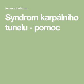 Syndrom karpálního tunelu - pomoc
