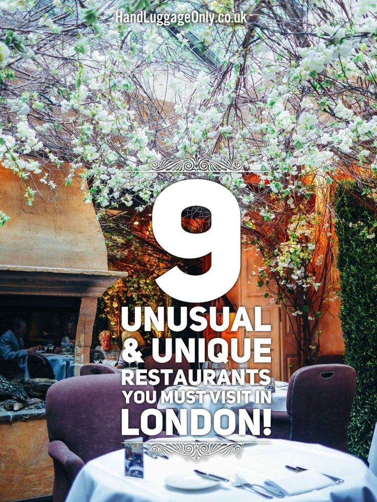Unusual Restaurants In London #RePin by AT Social Media Marketing - Pinterest Marketing Specialists ATSocialMedia.co.uk