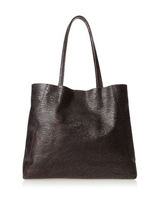 80% OFF Streets Ahead Women's Classic Small Tote Bag, Embossed Mahogany Lace, One Size