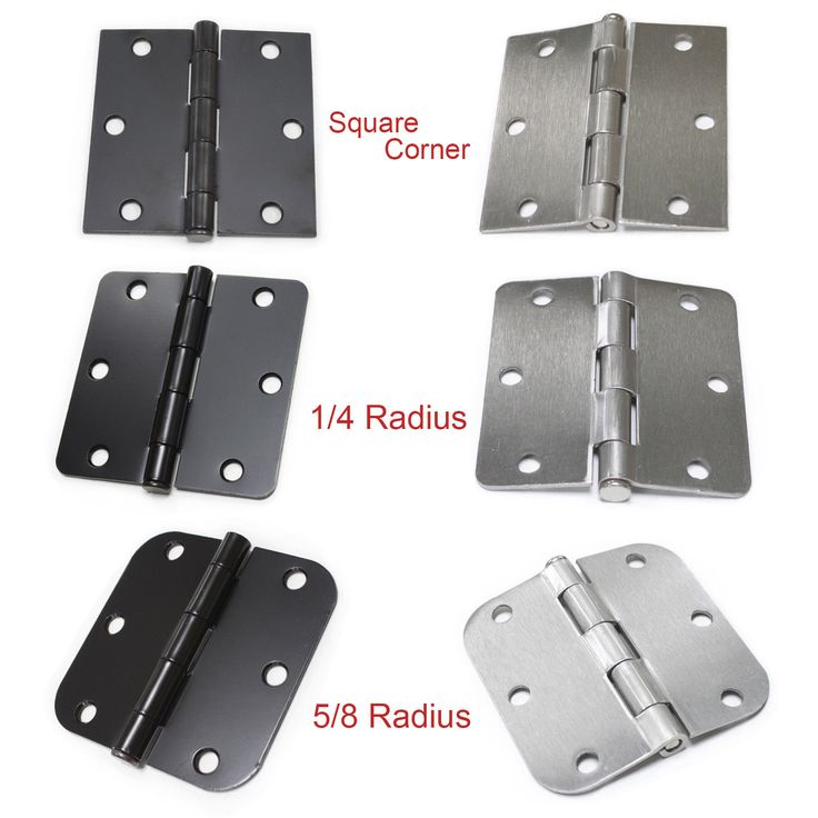 Door Hinges 66739 3 5 X3 5 Interior Door Hinges Satin Nickel Black 1 4 5 8 Radius Round Corner Buy It Now O Interior Door Hinges Doors Interior Door Hinges