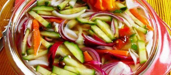 Heerlijk+zuurgerecht+voor+bij+de+nasi+of+bami. Ik+zelf+vind+het+lekker+bij+een+pittig+kipgerecht+met+een+salade.