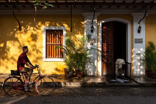 Pondicherry - one of nearby places from Bangalore that I love, the food, the peace all around and the old world charm!