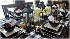 Dining Delight: Black Lantaarns & Buffalo controleren Tablescape