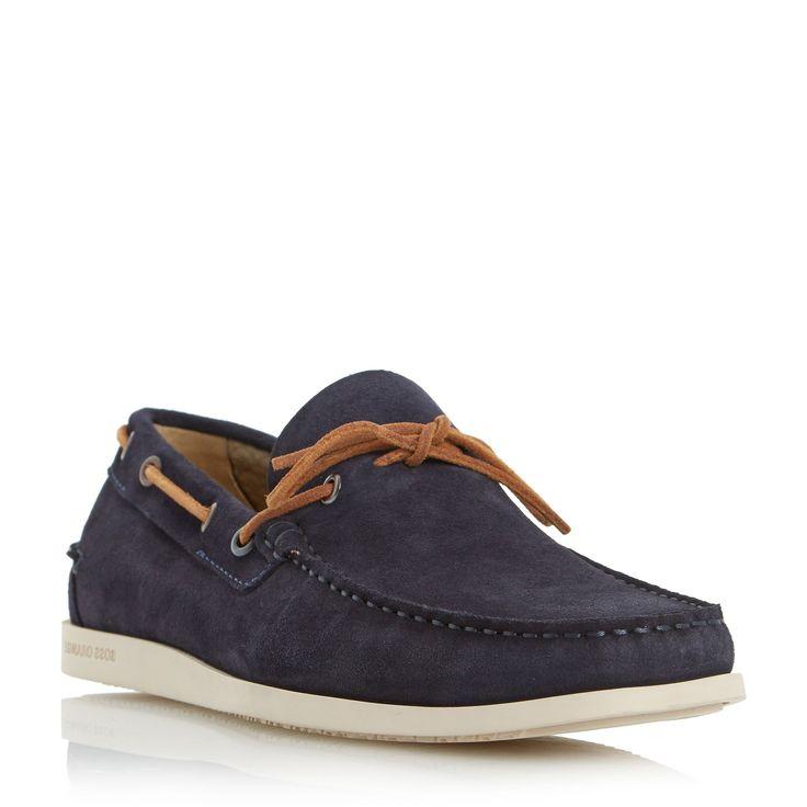Hugo Boss Newlan Interlacing Detail Boat Shoes, Navy