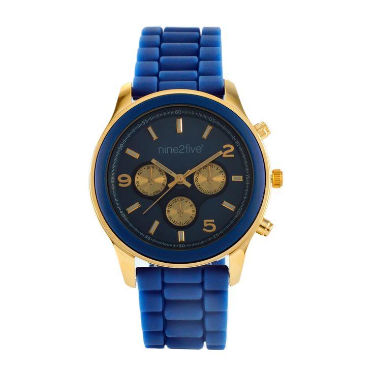 Este Nine2Five es de la línea Chronos. Relojes con un diseño elegante y casual en divertidos y llamativos colores #watches #accesories #blue