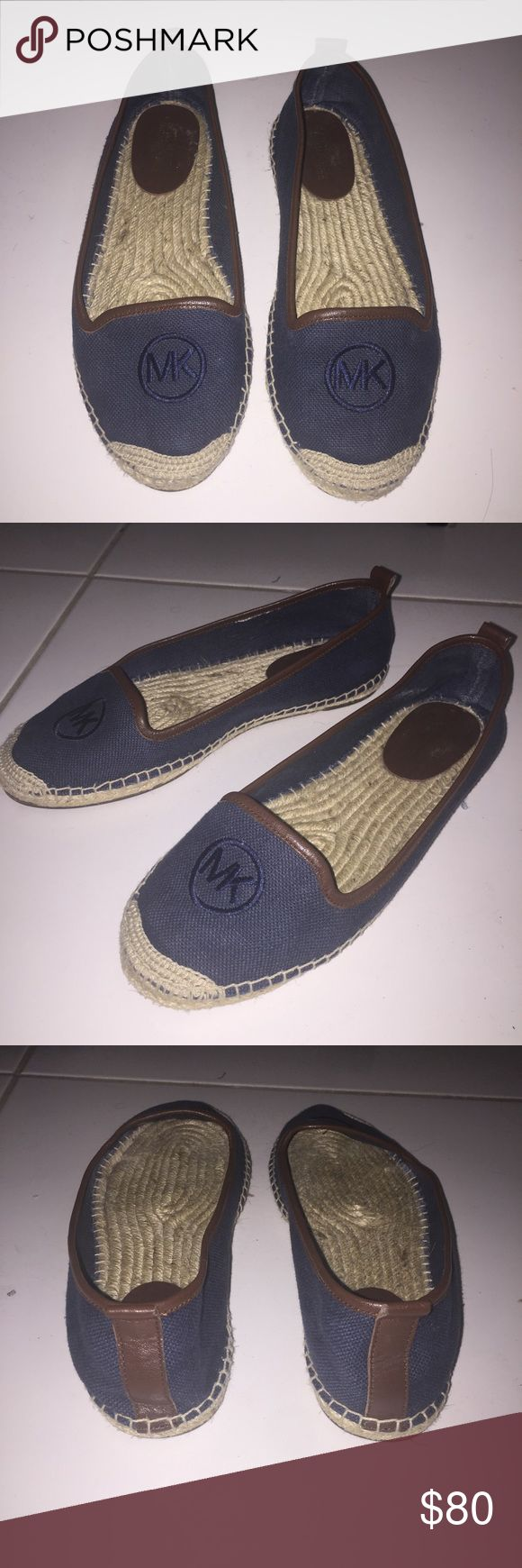 Micheal Kors Navy Espadrilles Shoes In like new condition, hardly worn! Super cute and perfect for spring! Size 7.💙🌸 KORS Michael Kors Shoes Espadrilles