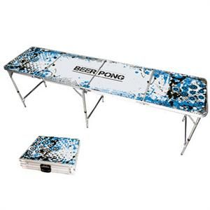 Bring your own Beer Pong Table to the party.  Official Size