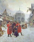 Christmas Eve, Highcross Market, Leicester  by Henry Reynolds Steer