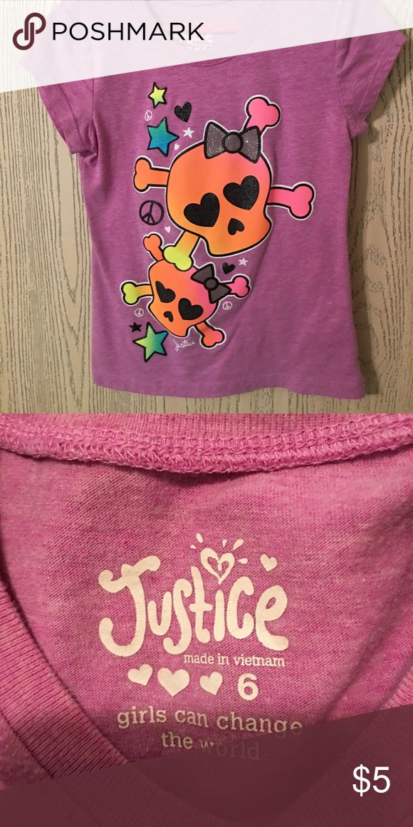 Justice t shirt Neon colors ! Bright ! Justice t shirt Justice Shirts & Tops Tees - Short Sleeve