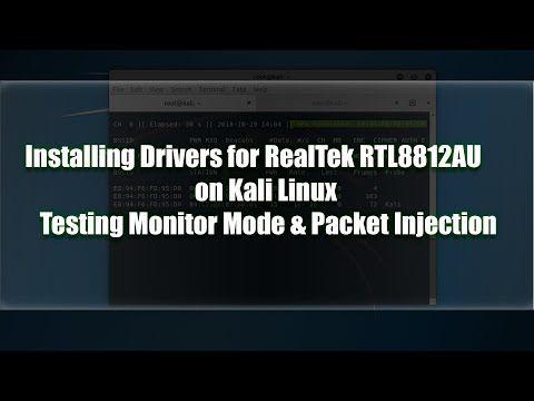 Installing rtl8812au Drivers on Kali Linux - YouTube