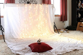 Christmas photo backdrop. Have to try this!