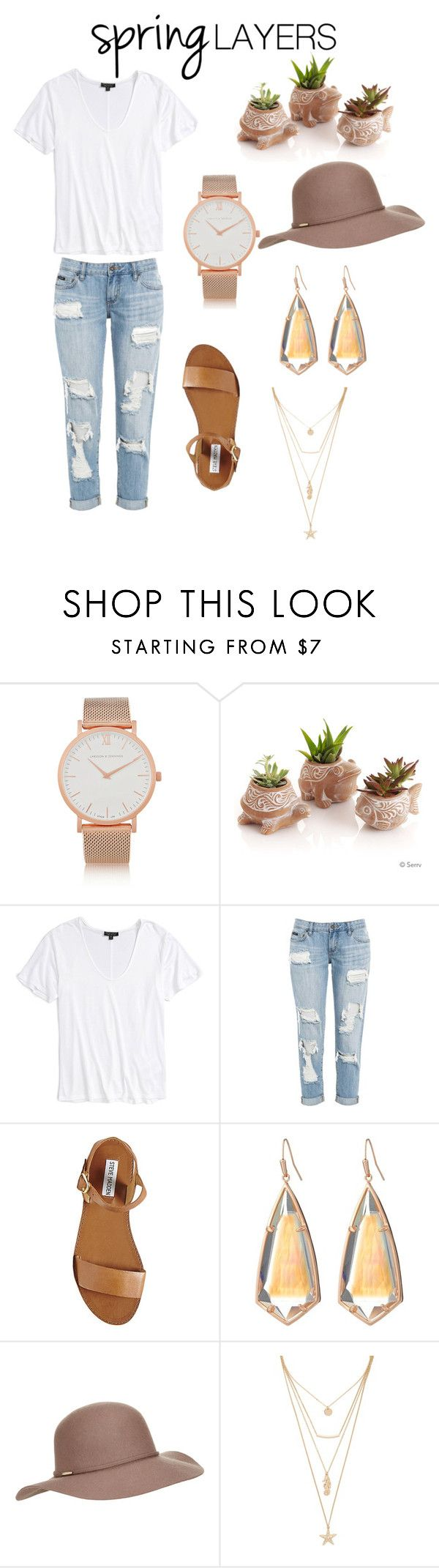 """""""Untitled #44"""" by karimereynoso on Polyvore featuring Larsson & Jennings, Topshop, Steve Madden, Kendra Scott, Accessorize and Forever 21"""