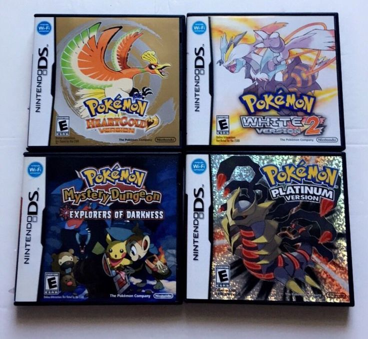 Nintendo Ds Pokemon Games : Nintendo ds pokemon collection games pinterest