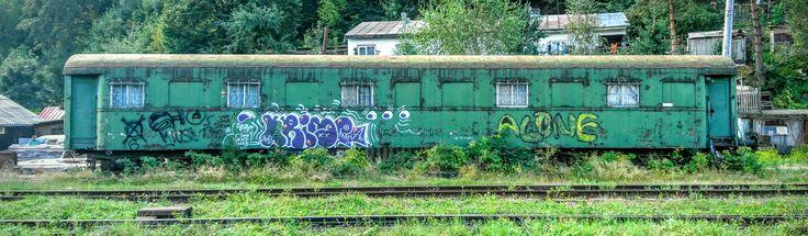 Abandoned rail car, Vatra Dornei, Romania