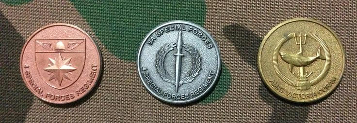 4 Recce challenge coins