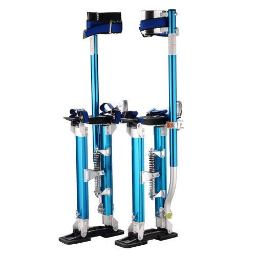 """Pentagon Tool """"Tall Guyz"""" Professional 18""""-30"""" Blue Drywall Stilts For Sheetrock, Painting, or Cleaning by Pentagon. $89.95. If you are in the market for a set of drywall stilts, stop looking! Pentagon Tool is an industry leader in drywall supplies and accessories. They sell more lifts, stilts, and accessories than most other sellers combined. You are bidding on a set of NEW premium grade Drywall Stilts. They are perfect for drywall painting, electrical, drop ceilings,..."""