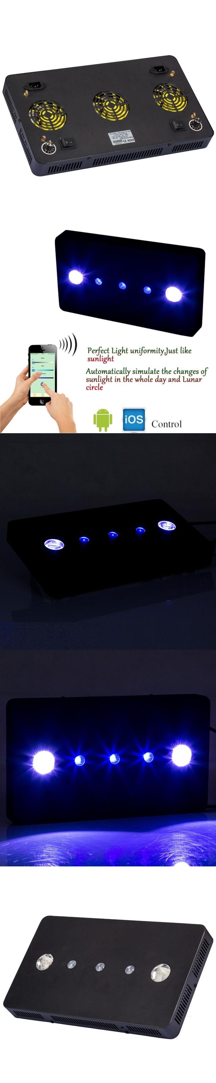 WIFI 169w LED aquarium light Dimmable Full spectrum aquarium led lighting for reef coral fish tank moonlight Lamp