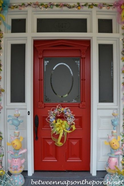 17 Best Images About Decorated Easter Porch On Pinterest