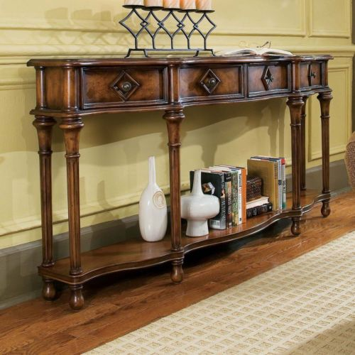 New Hall Console Accent Living Room Couch Sofa Rustic Mediterranean Style Table | eBay