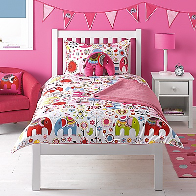 Buy little home at John Lewis Abbey Elephant Duvet Cover Set online at JohnLewis.com - John Lewis