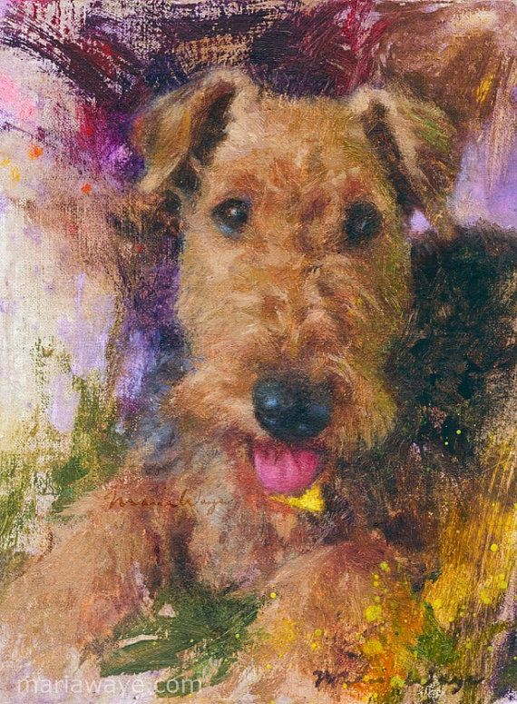 Custom Pet Portrait Oil Painting Dog Portrait Oil Portrait