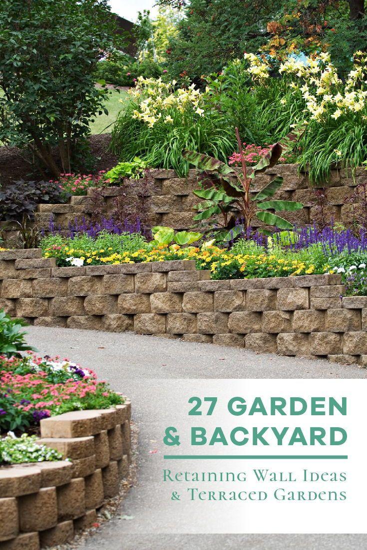 50 Backyard Retaining Wall Ideas And Terraced Gardens Photos