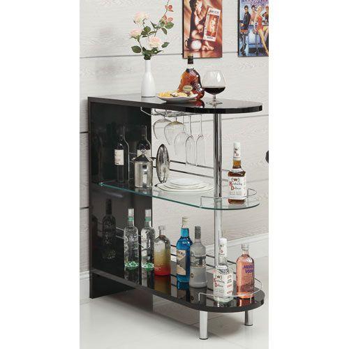 Black Contemporary Bar Table