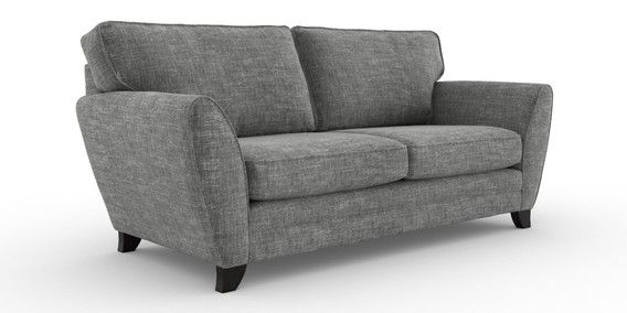 Buy Gosford Buttoned Large Sofa 3 Seats Boucle Weave Dark Grey Low Turned Standard From The Next Uk Online Shop