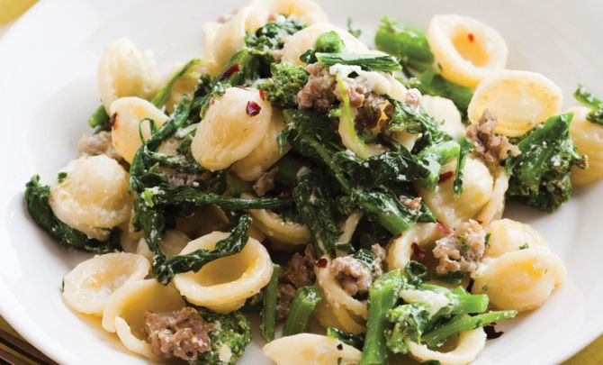Orrecchiette with Broccoli Rabe, Ricotta, and Sausage Recipe - Relish