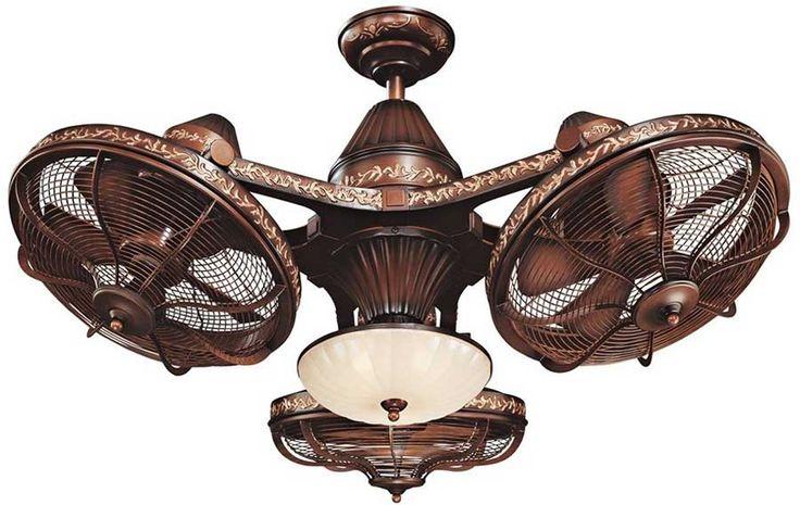 Casa Vieja Esquire 38-inch Rich Bronze Finish Ceiling Fan with 3-Head