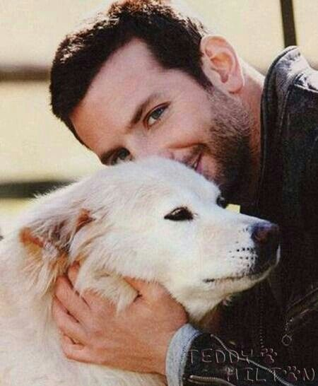 Bradley Cooper and his dog Charlotte she was the Sweetest Dog ever my daughter Who was 3 at the time and I Got to meet him and played with his dog all day<3