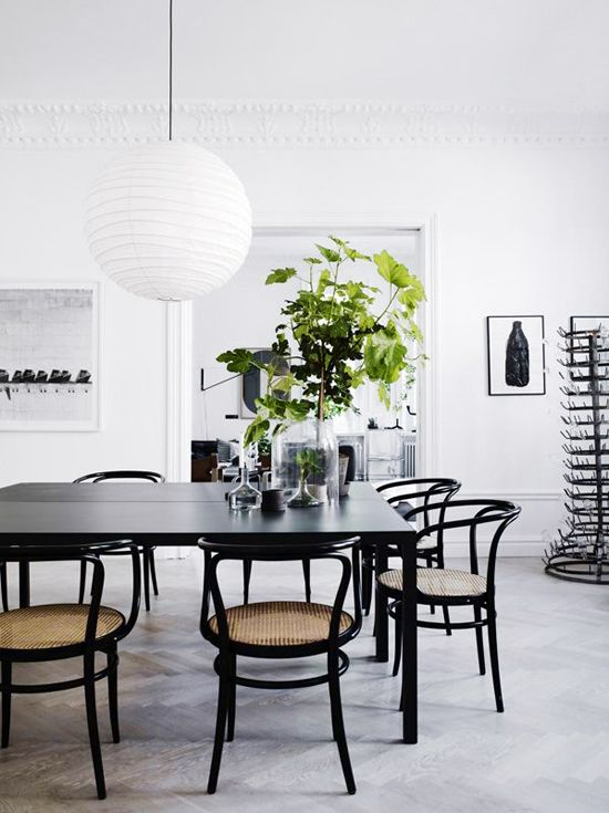91 Best Spaces  Dining Room Images On Pinterest  Dining Room Beauteous Black And White Dining Room Design Inspiration