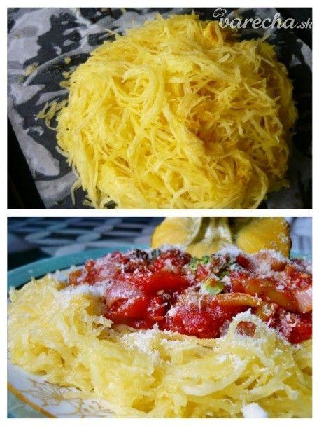 Parmesan spaghetti squash s paradajkovou omáčkou (fotorecept) - Recept