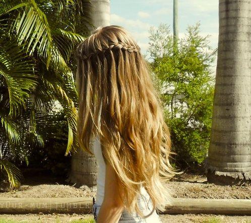 BRAIDS: Braids Hairstyles, Hair Beautiful, Waterfalls Braids, Waterf Braids, Celebrity Hairstyles, Hair Style, Casual Hairstyles, Ponytail Hairstyles, Popular Pin