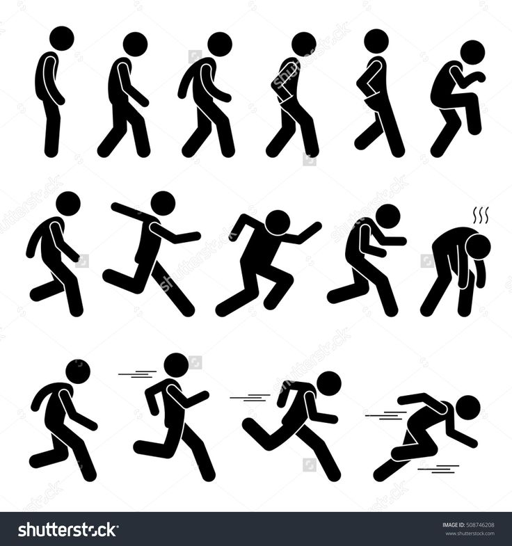 Running girl stick figure