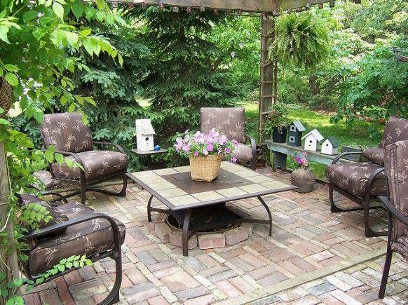 Exterior, Beautiful Open Space Garden Design Ideas: Pretty Garden Patio