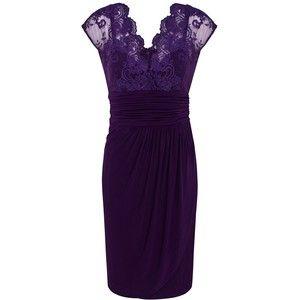Purple Lace Top Dress