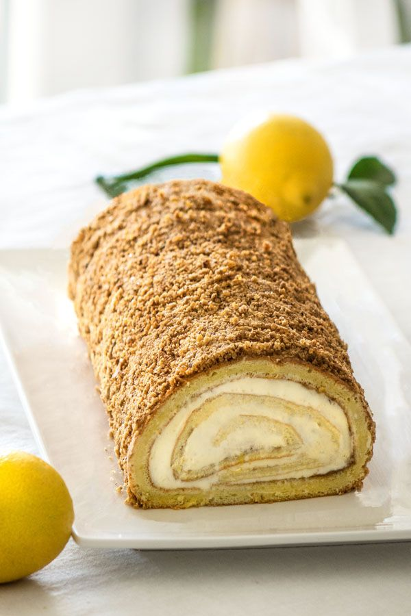 Biscuit roule ganache citron