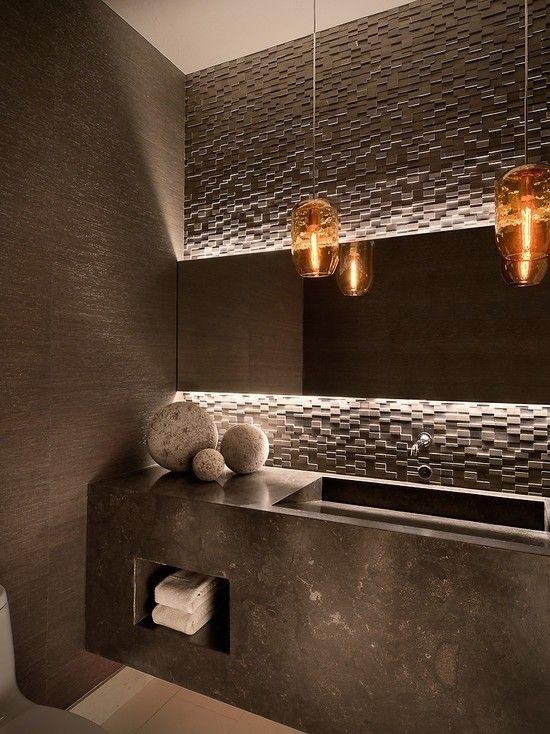 bagno arredo moderno bagno moderno con illuminazione a sospensione