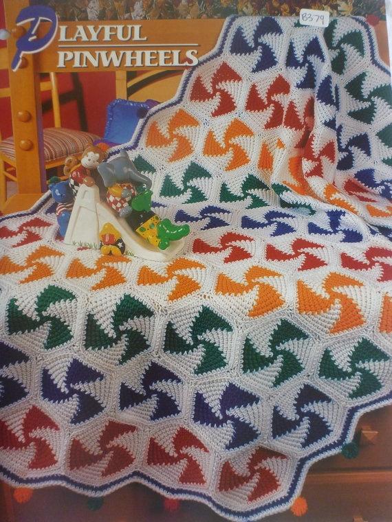 Playful Pinwheels Afghan Annie S Crochet Amp Afghan Club