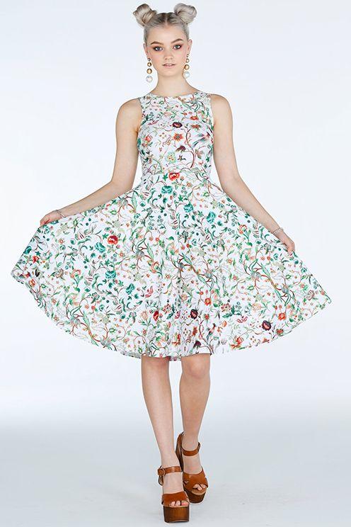 Jacobean Garden Princess Midi Dress- 7 Day Unlimited (A$130)