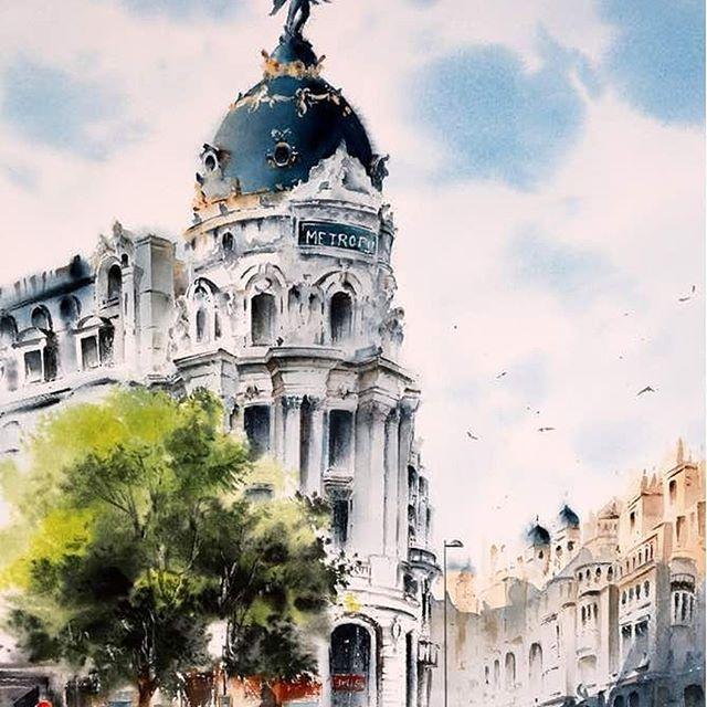 Watercolorist Elhamtavakol Art Waterblog Akvarel