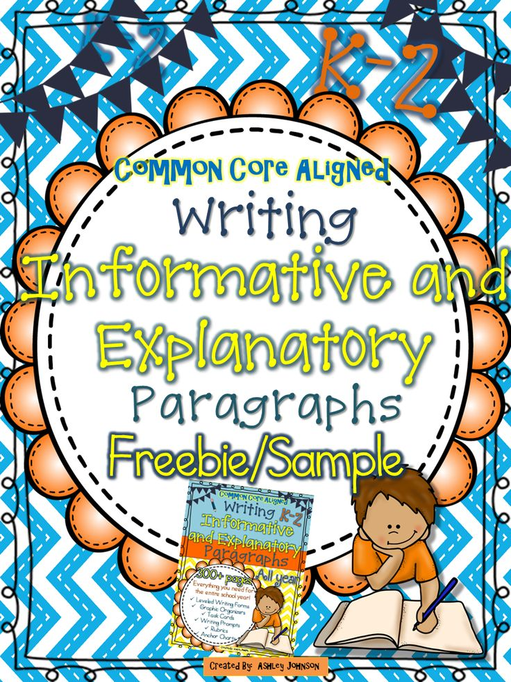 This Informative and Explanatory Paragraph Writing freebie is a sample of my 300+ paged Informative and Explanatory Paragraph Writing unit. It is a great way to introduce and give your students practice writing informative and explanatory paragraphs. The unit is aligned with the Common Core Standards grades K-2.