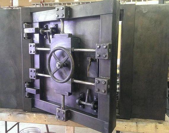Custom Vintage Look Industrial Vault Door 027s