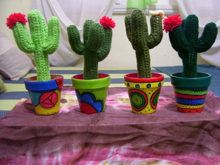 Amigurumi Cactus Tejido A Crochet Regalo Original : Best macetas pintadas images decorated flower